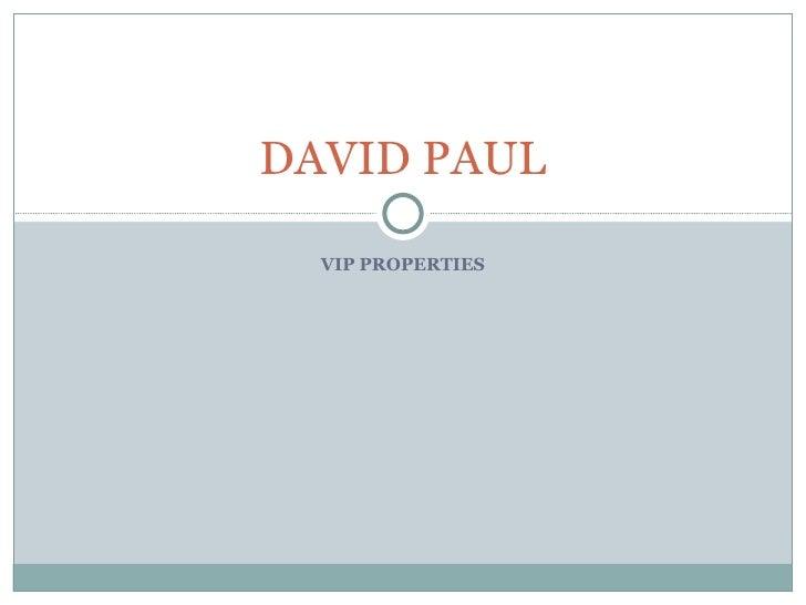 VIP PROPERTIES DAVID PAUL