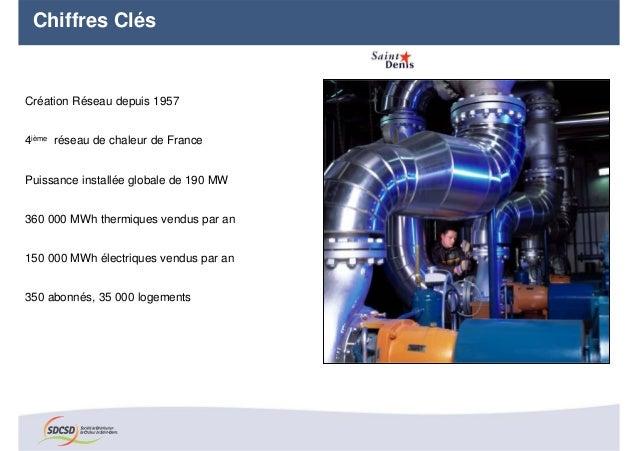 Chiffres ClésCréation Réseau depuis 19574ième réseau de chaleur de FrancePuissance installée globale de 190 MW360 000 MWh ...
