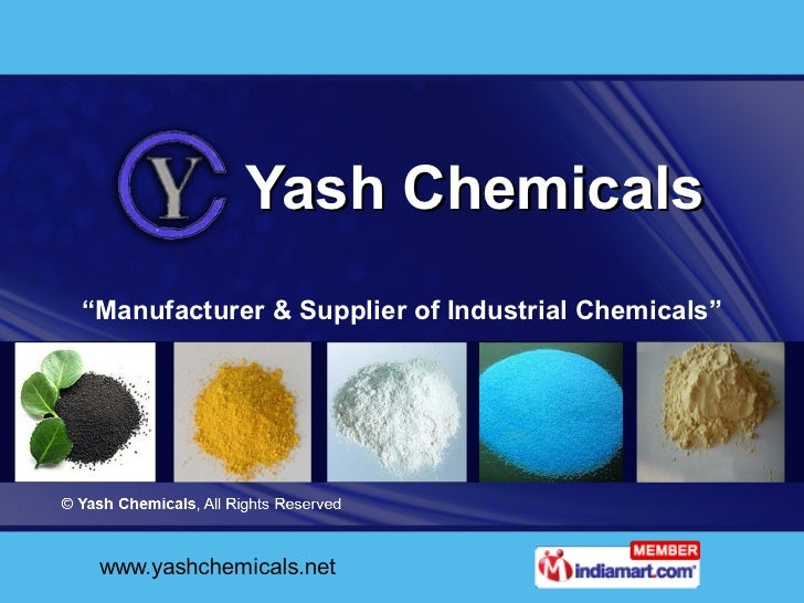 "Yash Chemicals "" Manufacturer & Supplier of Industrial Chemicals"""