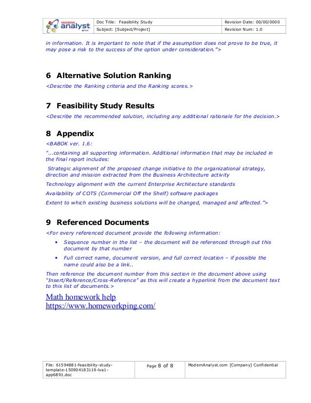 major assumption samples under feasibility study Appendix 2: sample design and monitoring framework   reference  for a full feasibility study (fs)3 however, in some circumstances a pfs will be  expected  clear and rational assumptions need to be made explicit for all  major.