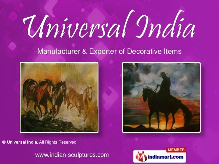 Manufacturer & Exporter of Decorative Items© Universal India, All Rights Reserved                www.indian-sculptures.com