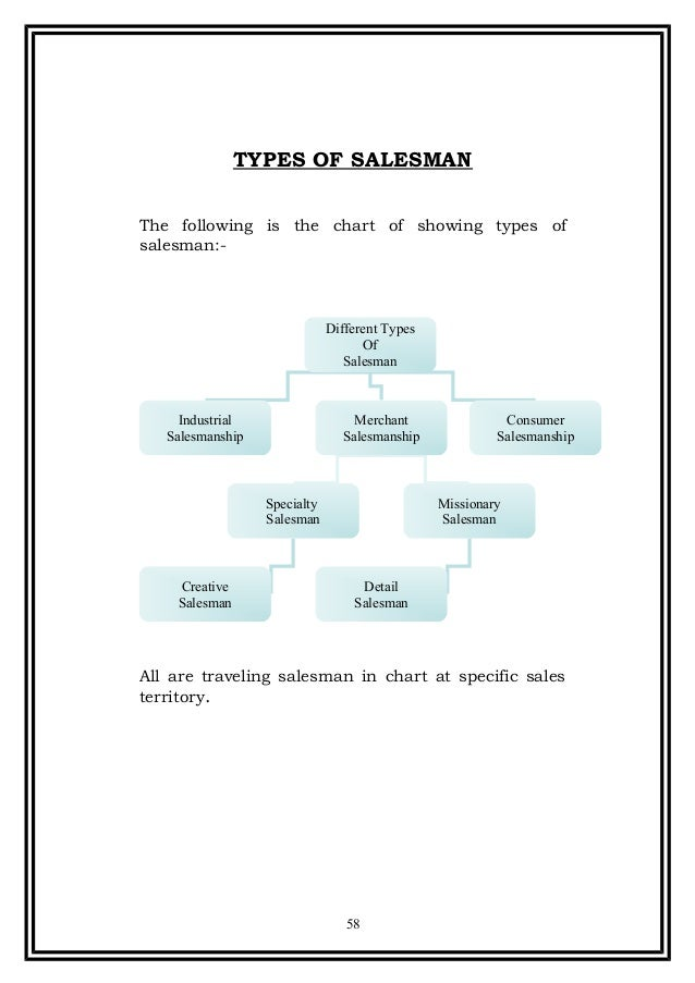 types of salesman pdf