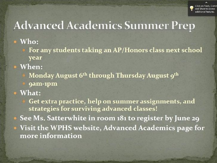 WestPotomacHighSchool            SummerReadingAssignment              OneBook-OneQuestion   The Books:            T...
