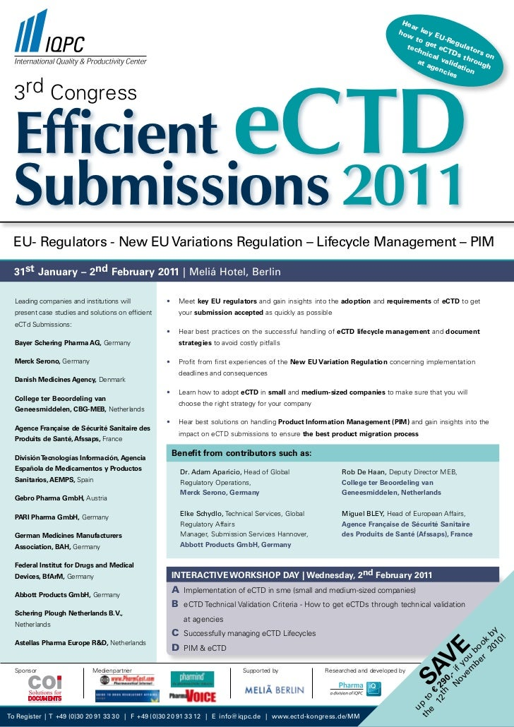 3rd Congress Efficient eCTD Submissions 2011