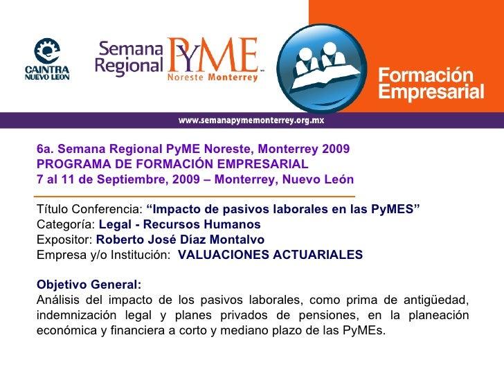 61 Roberto DíAz Garcia Impacto De Los Pymes