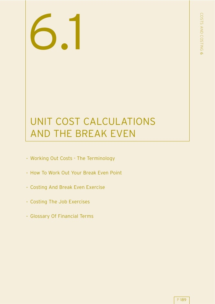 61 Unit Cost Calcs