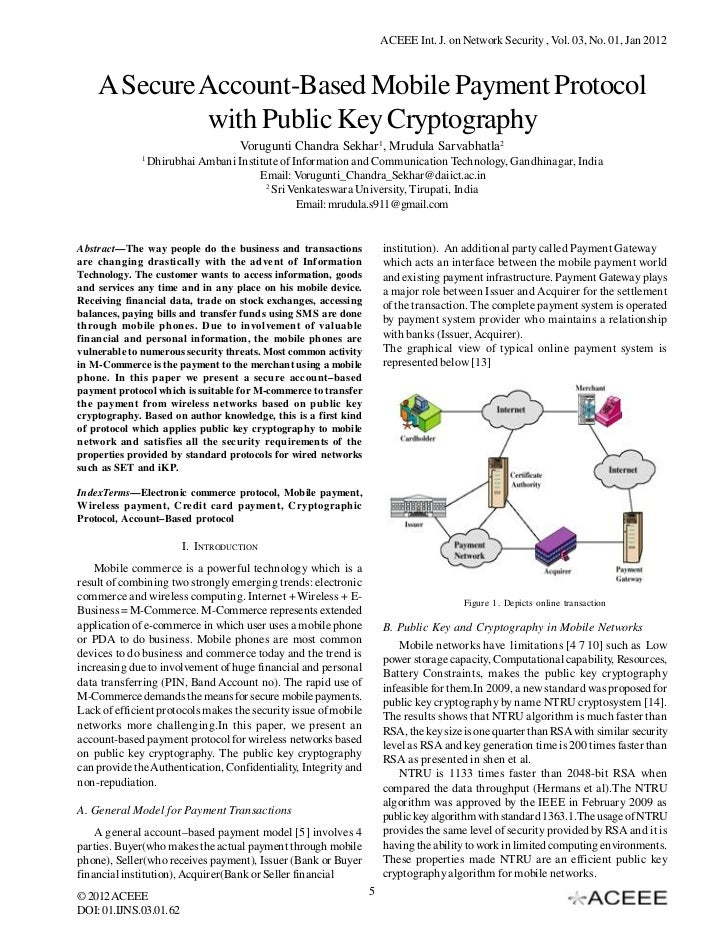 A Secure Account-Based Mobile Payment Protocol with Public Key Cryptography