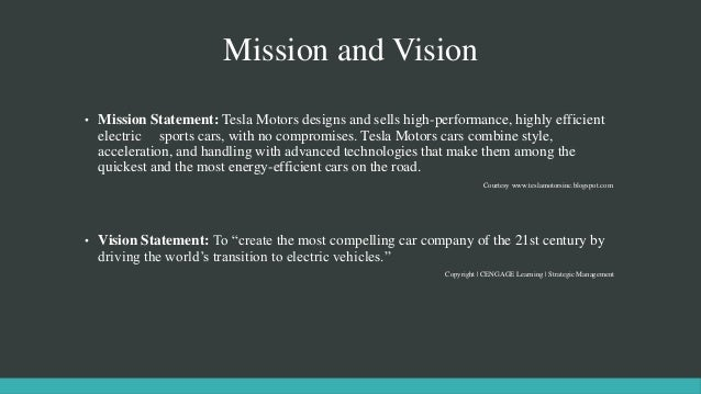 Tesla case study for General motors mission statement 2017