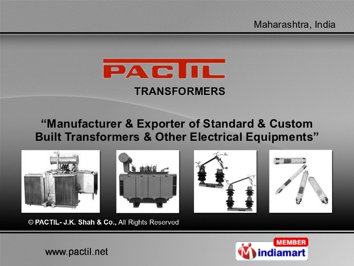 """TRANSFORMERS """" Manufacturer & Exporter of Standard & Custom Built Transformers & Other Electrical Equipments"""""""