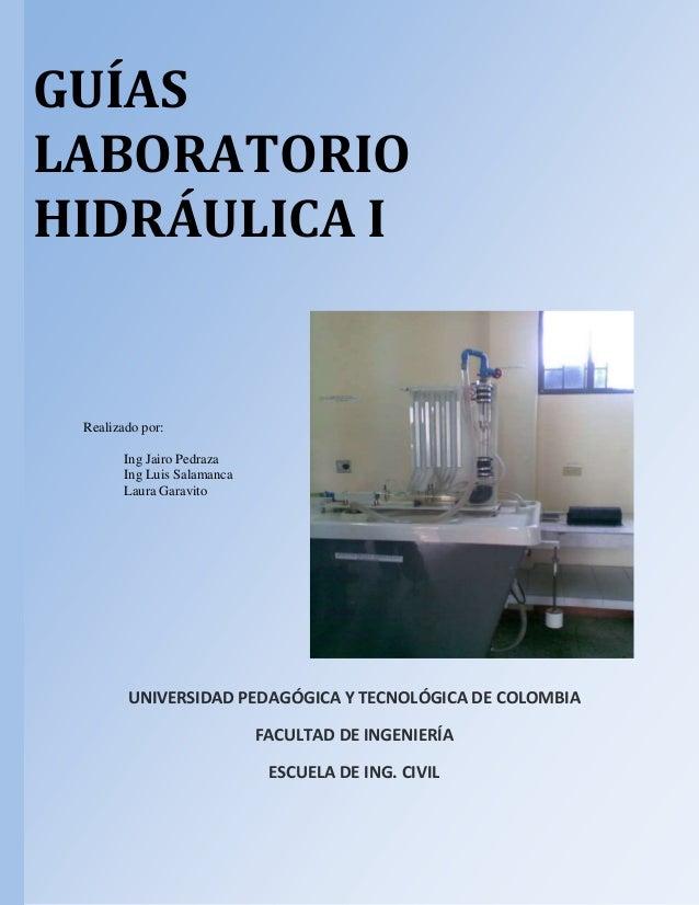 Guias de laboratorio Hidráulica de tuberías