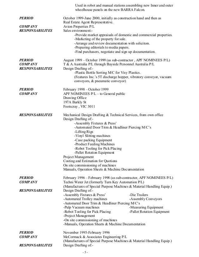 Picker packer resume