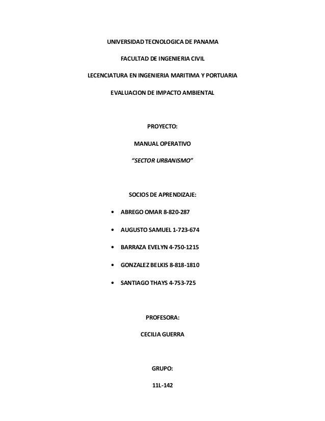 UNIVERSIDAD TECNOLOGICA DE PANAMA  FACULTAD DE INGENIERIA CIVIL  LECENCIATURA EN INGENIERIA MARITIMA Y PORTUARIA  EVALUACI...