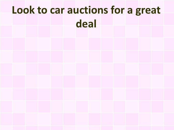 Look to car auctions for a great deal