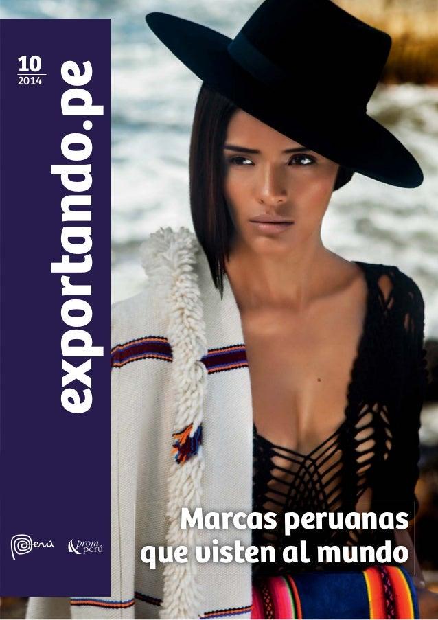 exportando.pe10 2014 Marcas peruanas que visten al mundo