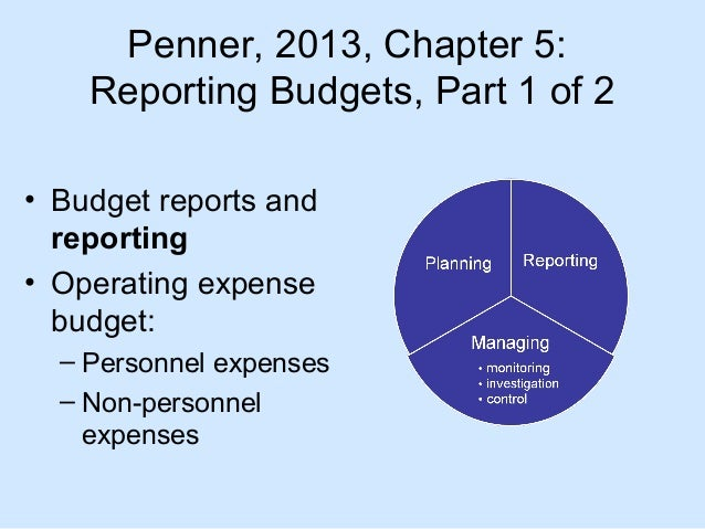 Nursing Unit Budget Reports