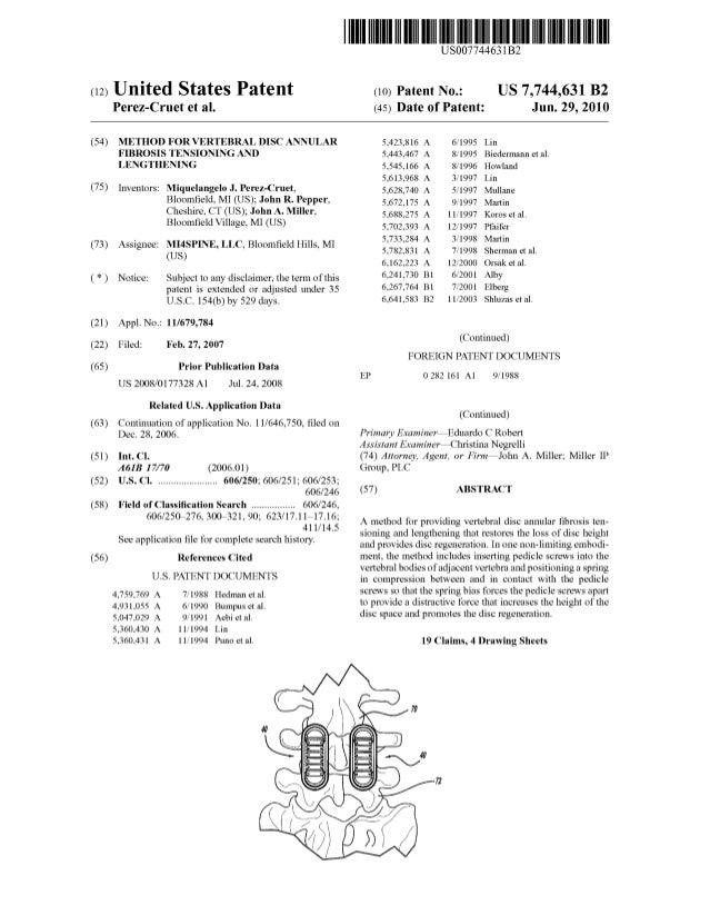 Annular Regen - MI4-7CB issued US7744631