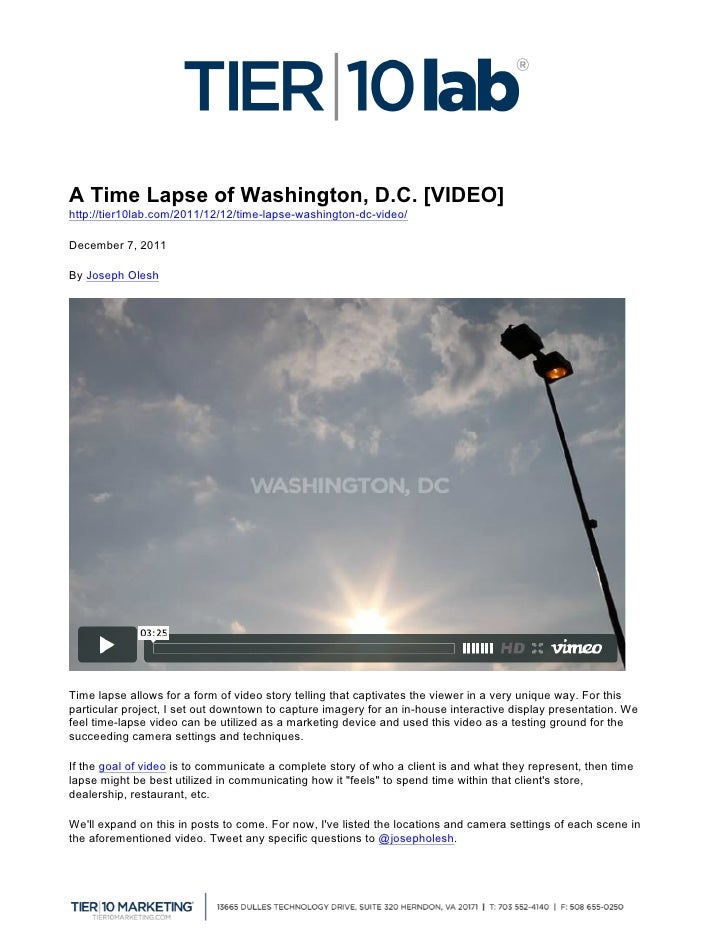 A Time Lapse of Washington, D.C. [VIDEO]