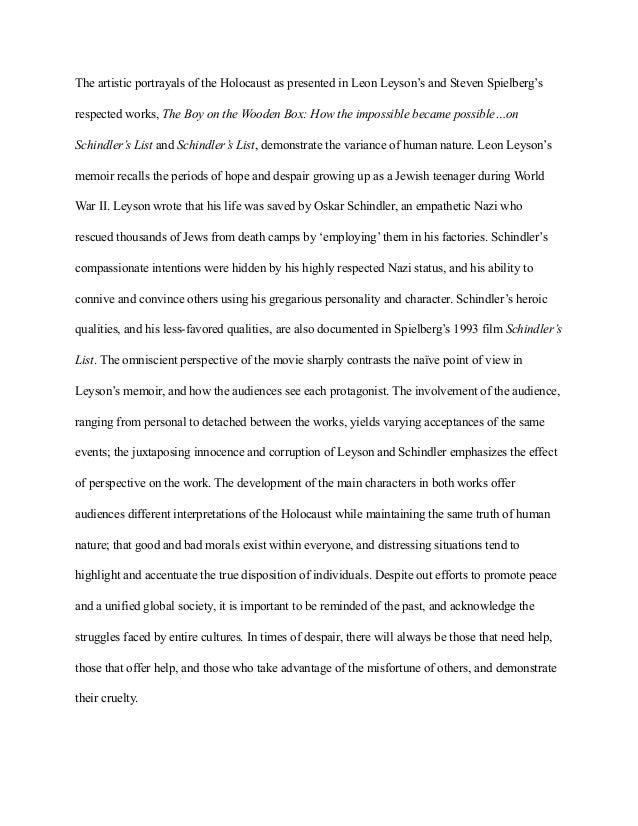 Help me on my Holocaust essay?