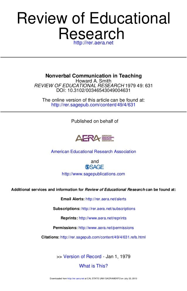 http://rer.aera.net Research Review of Educational http://rer.sagepub.com/content/49/4/631 The online version of this arti...