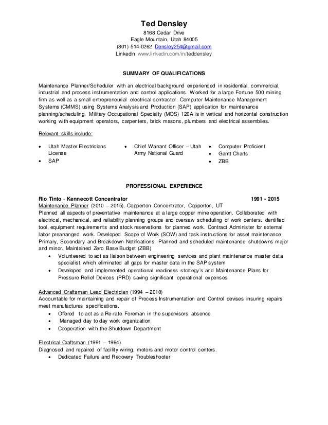 ted densley resume master rev