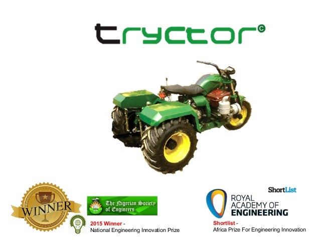 African Inventions: Tryctor-- A Motor Bike Turned Tractor