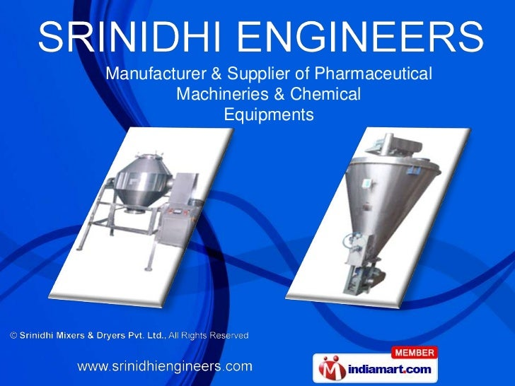 Manufacturer & Supplier of Pharmaceutical        Machineries & Chemical              Equipments