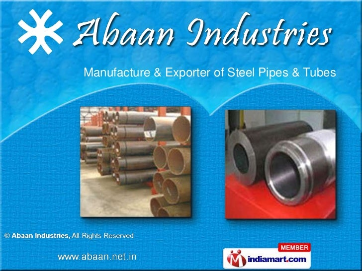 Manufacture & Exporter of Steel Pipes & Tubes