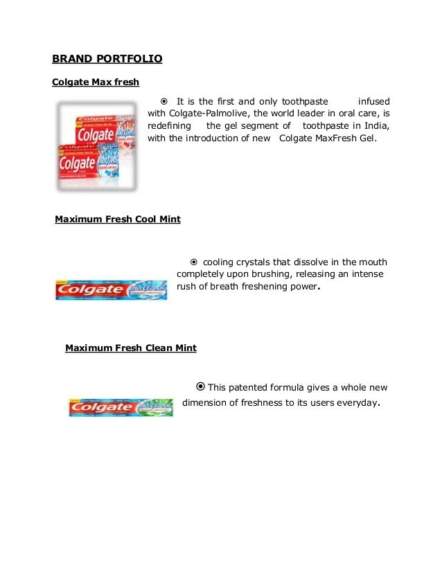"toothpaste promotional mix Place :- colgate toothpastes are available at every convenience place to facilitate  its  promotion :- promotion is one of the most important ""p"" of marketing mix."