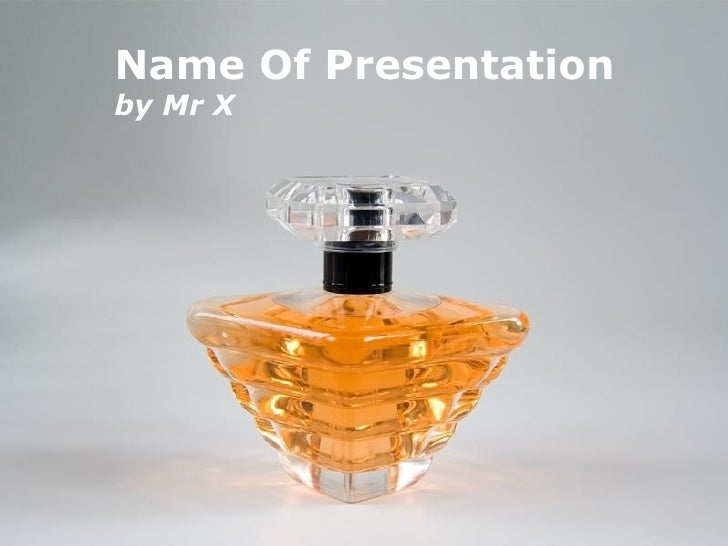 Crystal Perfume Bottle Free Powerpoint Template