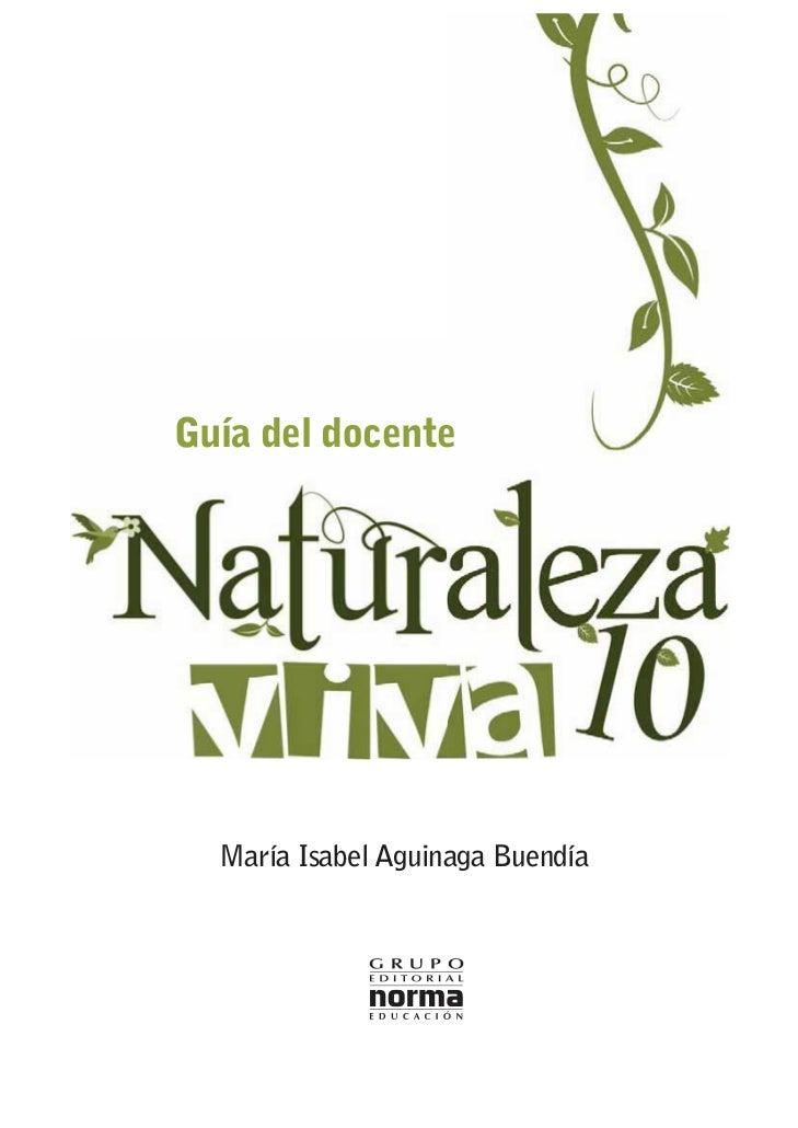 Guía del docente  María Isabel Aguinaga Buendía