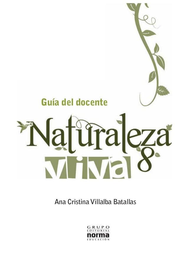 Guía del docente  Ana Cristina Villalba Batallas