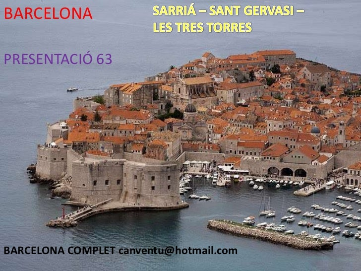 SARRIA - TRES TORRES BARCELONA PRESENTACIÓN 63