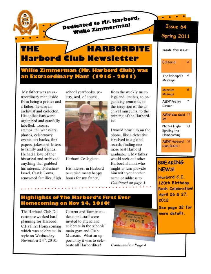 Harbordite Issue #64