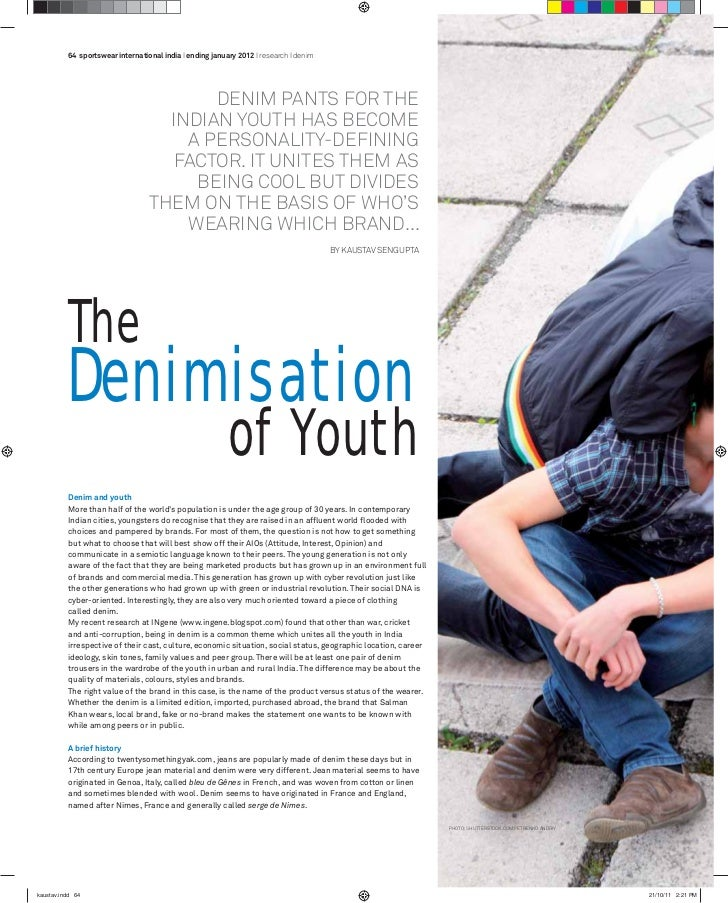 denimisation of youth in India- my article in Streetwear international India