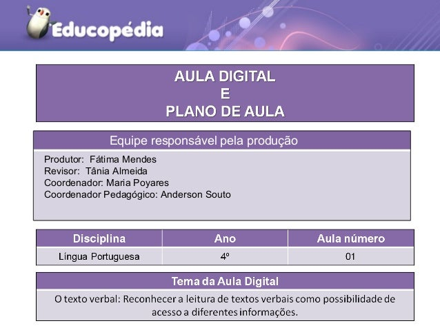 Equipe responsável pela produção Equipe responsável pela produção Produtor: Fátima Mendes Revisor: Tânia Almeida Coordenad...
