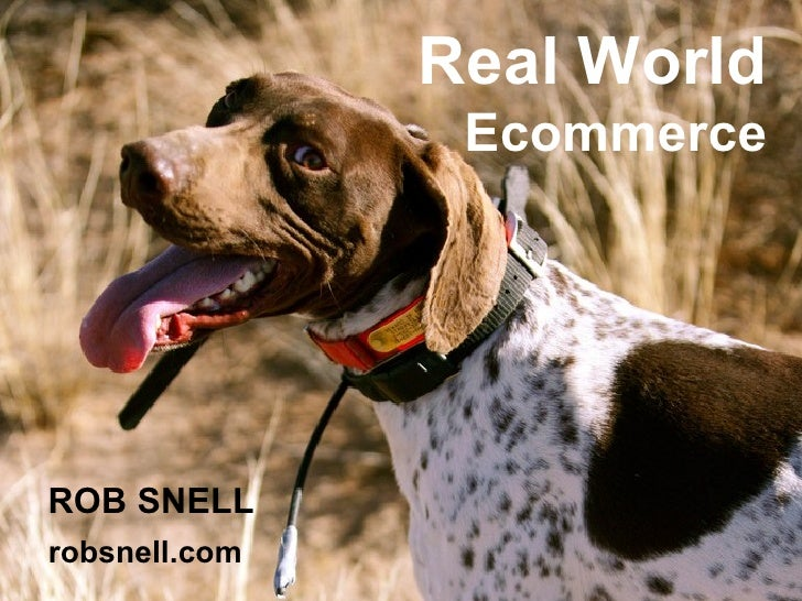 Real World  Ecommerce ROB SNELL robsnell.com