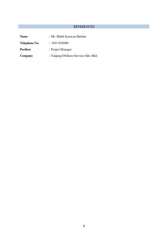 mohd hilmi bin hashim resume