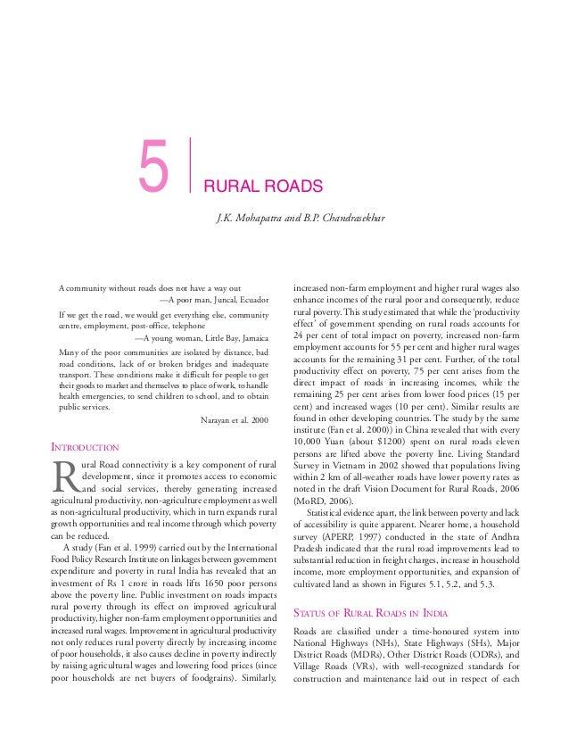 5                    RURAL ROADS                                                  J.K. Mohapatra and B.P. Chandrasekhar  A...