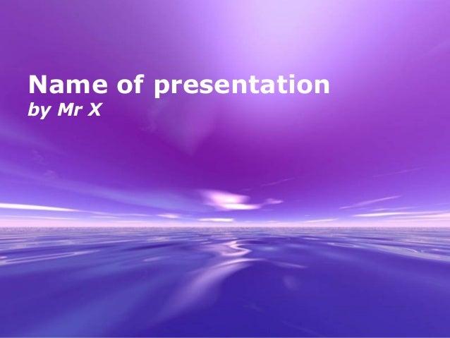 Purple Dream Powerpoint Presentation Template
