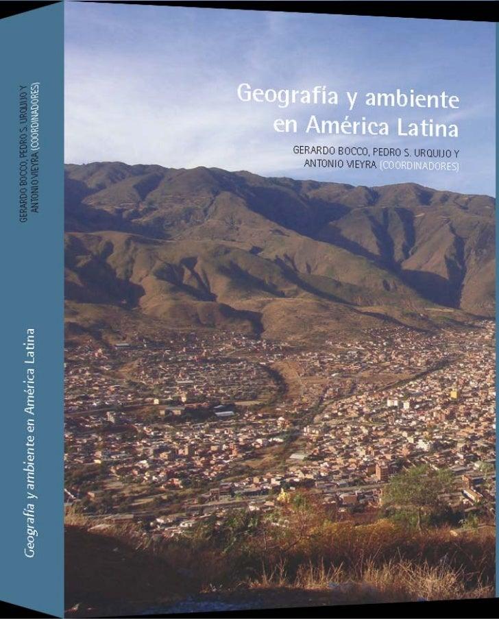 Geogr afía y a mbienteen A mérica Latina