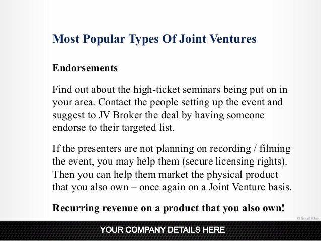 examples of some successful joint ventures