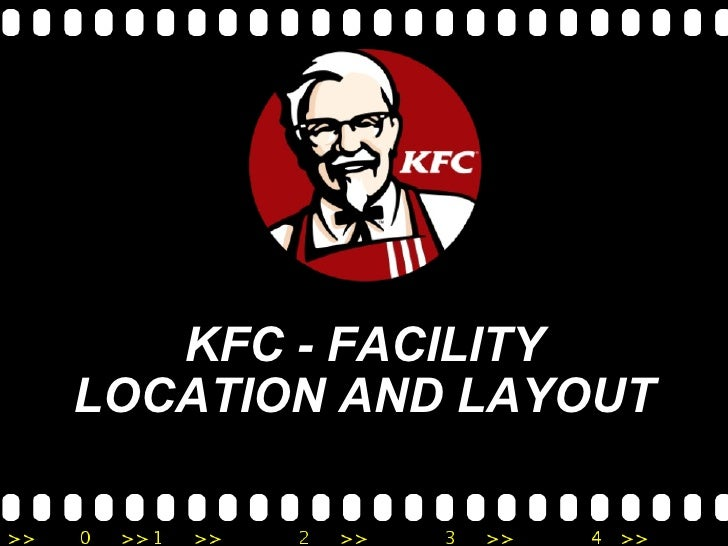 KFC - FACILITY LOCATION AND LAYOUT