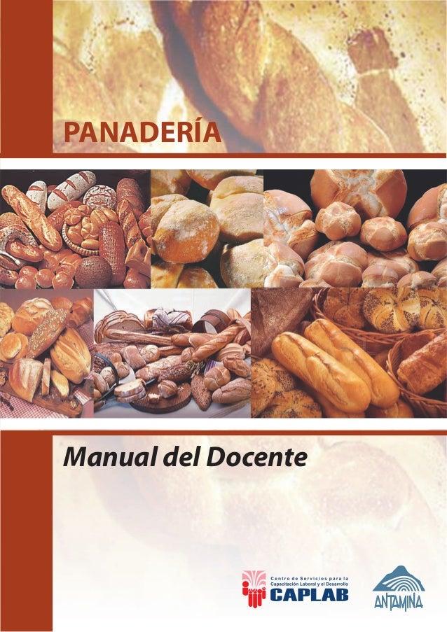 PANADERÍA Manual del Docente