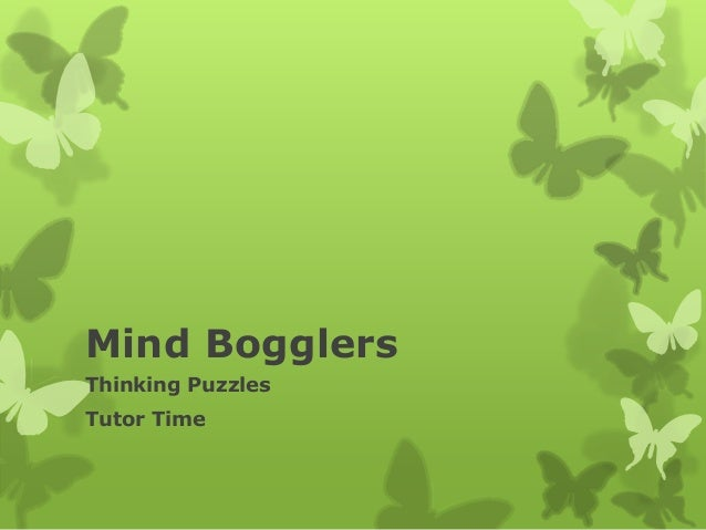 Mind Bogglers Thinking Puzzles Tutor Time