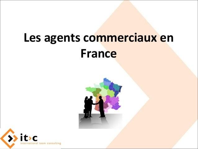 Les agents commerciaux en France