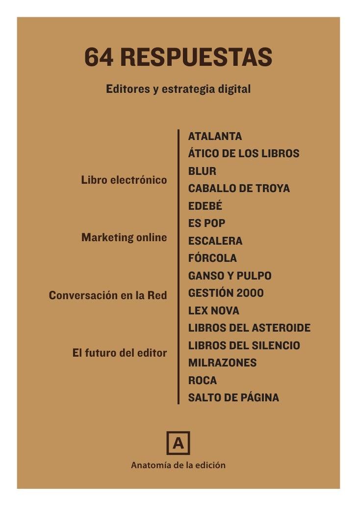 64 RESPUESTAS           Editores y estrategia digital                             ATALANTA                             ÁTI...