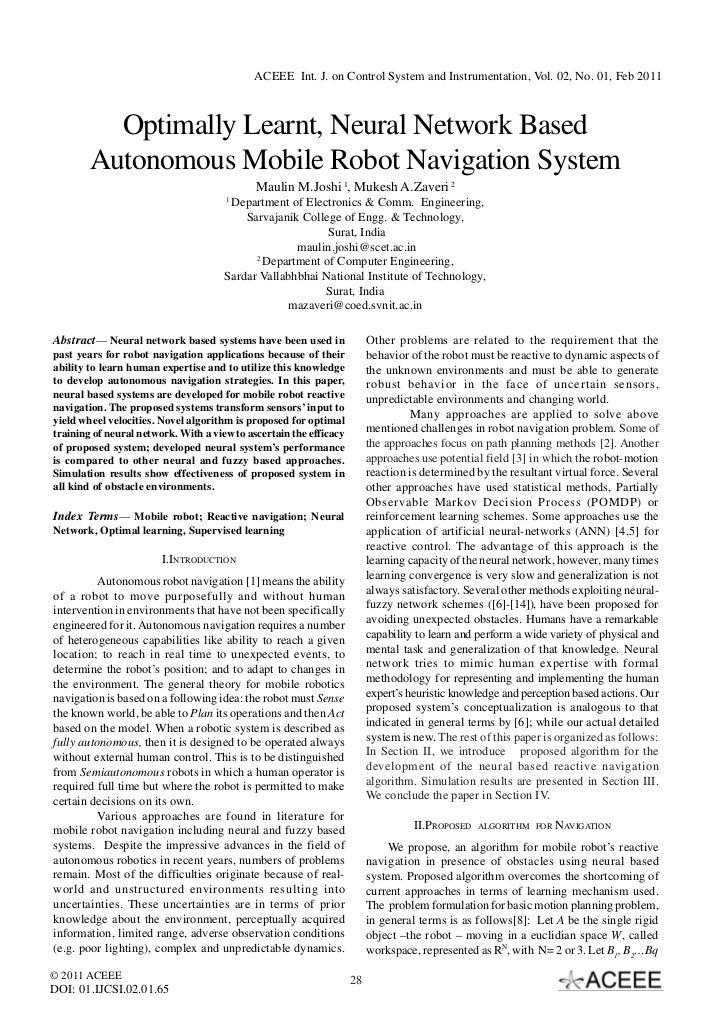 Optimally Learnt, Neural Network Based Autonomous Mobile Robot Navigation System