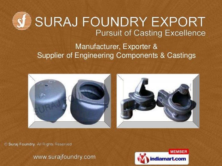 Manufacturer, Exporter &Supplier of Engineering Components & Castings