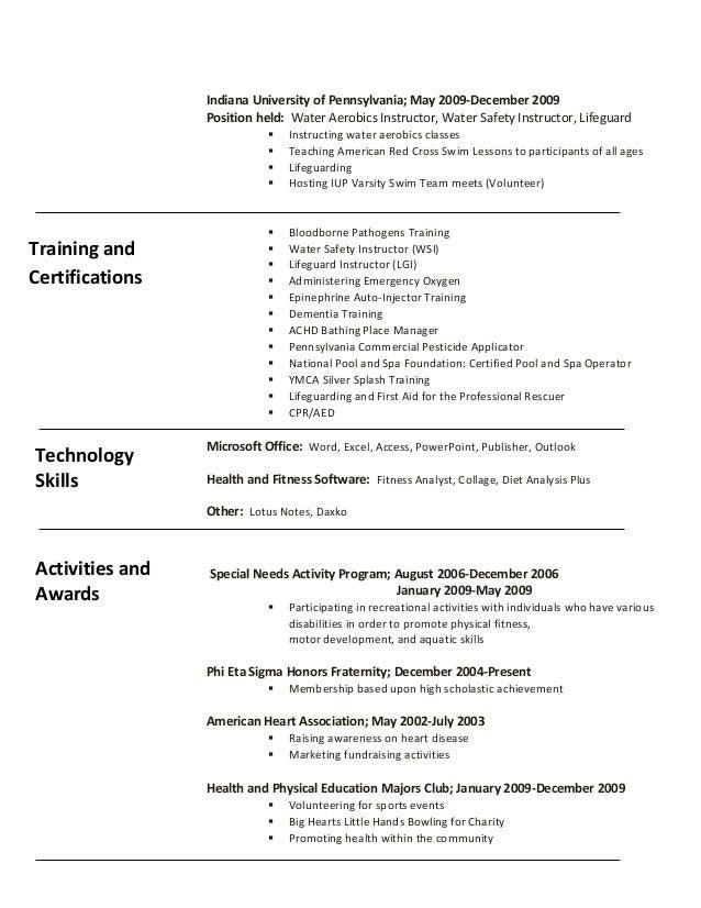instructor resume rockcup tk group fitness instructor resume - Group Fitness Instructor Resume