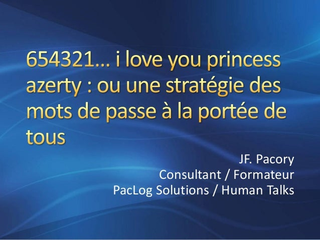 JF. Pacory Consultant / Formateur PacLog Solutions / Human Talks
